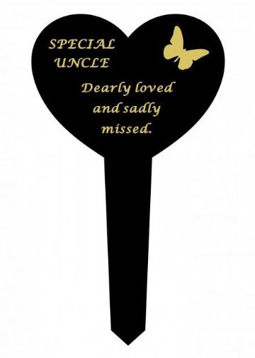 Graveside Memorial Butterfly Stake SPECIAL UNCLE DF17917V